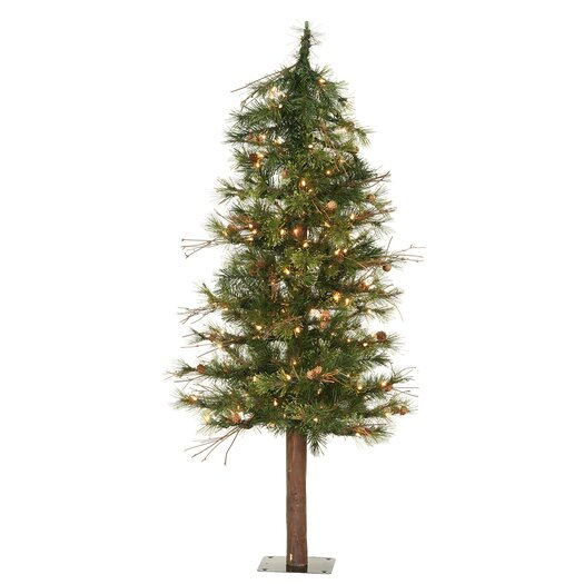 Vickerman Co. Mixed Country Alpine 6' Green Artificial Christmas Tree with 200 Clear Lights