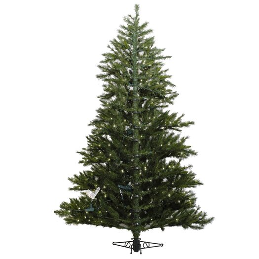 Vickerman Minnesota Pine 6' Green Artificial Half Christmas Tree with 200 Clear Lights with Stand