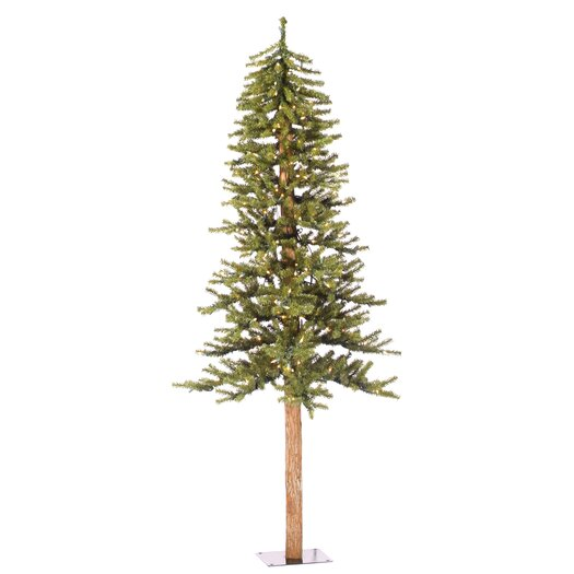 Vickerman Natural Alpine 6' Green Artificial Christmas Tree with 250 Clear Lights & Stand