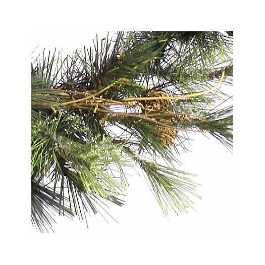 Vickerman Co. Mixed Country Pine Wall 4' Green Pine Artificial Christmas Tree with 150 Clear Lights with Branches