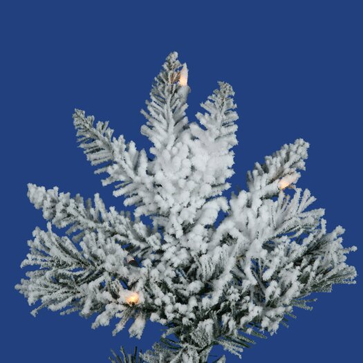 Vickerman Co. Flocked Utica Fir 7.5' White Artificial Christmas Tree with Stand