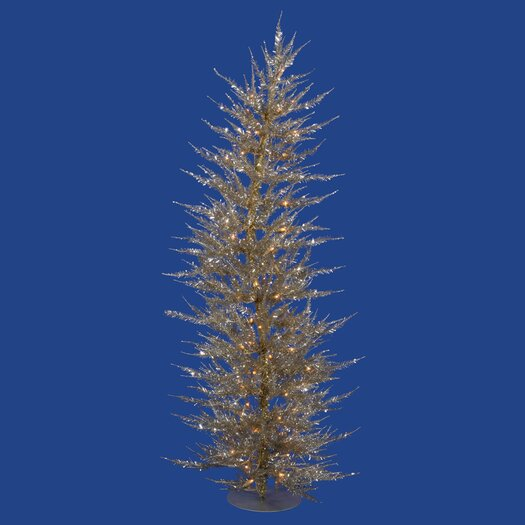 Vickerman Co. Colorful Laser 5' Champagne Artificial Christmas Tree with 100 Clear Lights