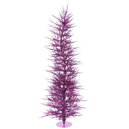 Vickerman Co. Purple Wreath and Garland 6' Purple Artificial Christmas Tree with 150 Purple Lights
