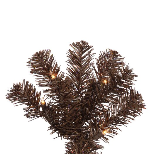 Vickerman Co. 9' Mocha Artificial Pencil Christmas Tree with 550 Clear Mini Lights