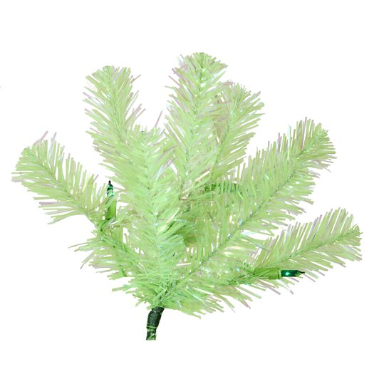 Vickerman Co. 7' Green Chartreuse Artificial Christmas Tree with 500 Green Mini Lights with Stand