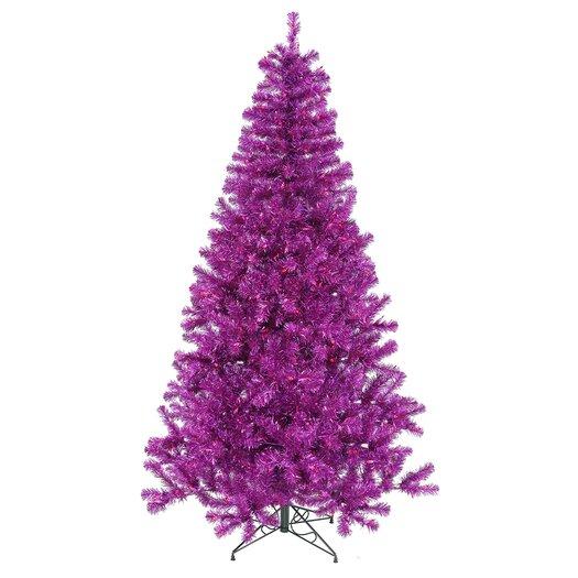 Vickerman 5' Purple Artificial Christmas Tree with 200 Purple Mini Lights
