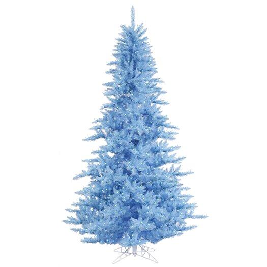 Vickerman Co. 7.5' Sky Blue Fir Artificial Christmas Tree with 750 Mini Lights