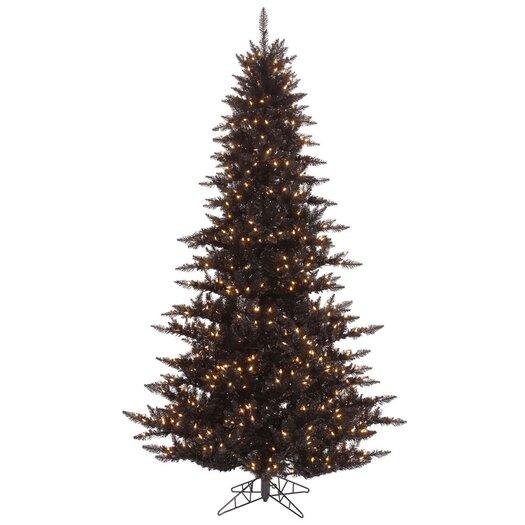 Vickerman 5.5' Black Fir Artificial Christmas Tree with 400 Mini Clear Lights