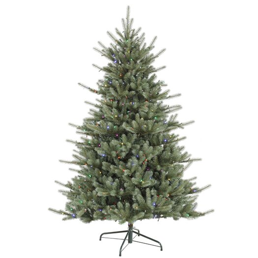 Vickerman Co. Colorado 7.5' Green Spruce Artificial Christmas Tree with 720 LED Multi-color Lights with Stand