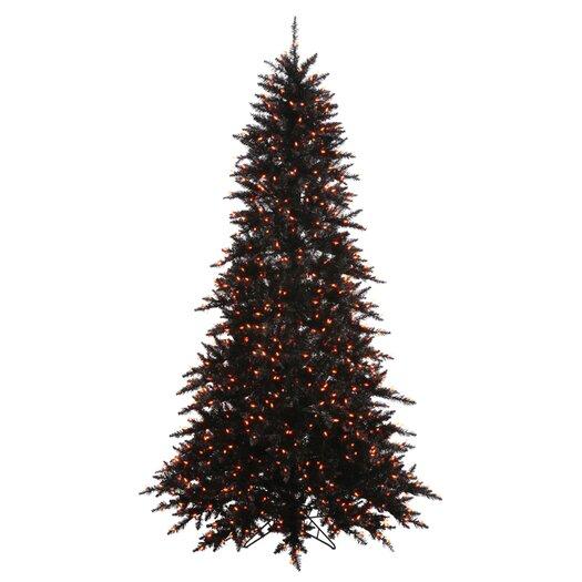 Vickerman 4.5' Black Fir Artificial Christmas Tree with 250 Mini Orange Lights
