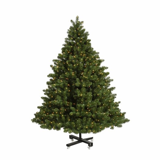 Vickerman Grand Teton 7.5' Green Artificial Christmas Tree with 850 LED White Lights