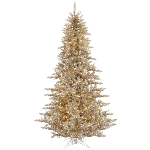 Vickerman 3' White Fir Artificial Christmas Tree with 100 Mini Clear Lights