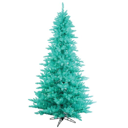 Vickerman Co. 4.5' Aqua Fir Artificial Christmas Tree with 250 Mini Lights