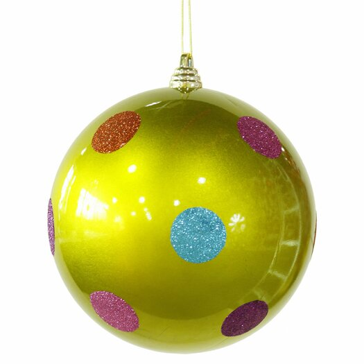 Vickerman Candy Polka Dot Ball Christmas Ornament