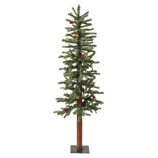 Vickerman Co. 5' Green Alpine Berry Artificial Christmas Tree with 200 Dura-Lit Clear Lights and Frosted