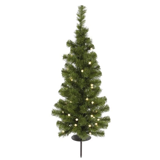 Vickerman Solar 3' Green Artificial Christmas Tree with 30 LED Warm White Lights with Stand