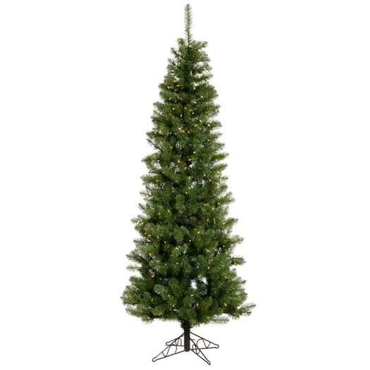 Vickerman Co. Salem Pencil Pine 6.5' Artificial Christmas Tree with 250 Clear Lights & Stand