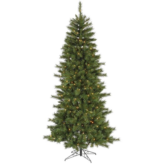 Vickerman Co. 7' Green Newport Mix Pine Artificial Christmas Tree with 350 Multicolored Mini Lights with Stand