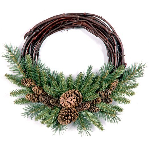 National Tree Co. Pine Cone Grapevine Wreath