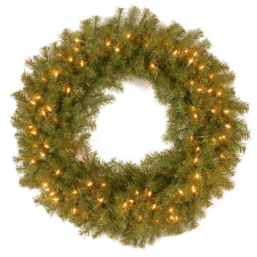 National Tree Co. Norwood Fir Pre-Lit Wreath