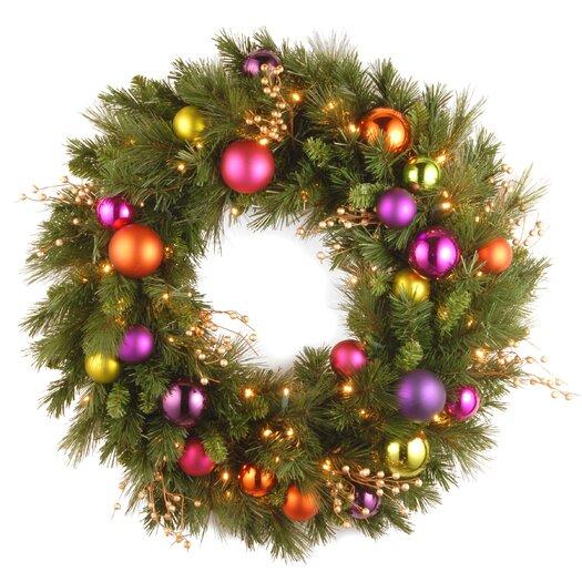 National Tree Co. Pre-Lit Kaleidoscope Wreath