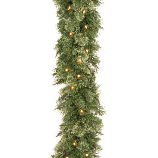 """National Tree Co. Wispy Willow Pre-Lit 9' x 10"""" Garland"""
