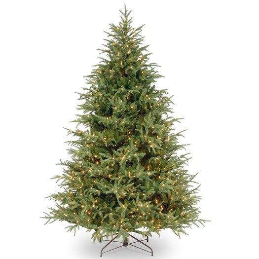 National Tree Co. 7.5' Frasier Green Grande Artificial Christmas Tree with 1000 Clear Lights with Stand