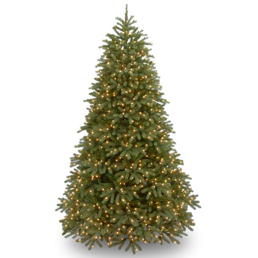 National Tree Co. Jersey Fraser Fir 9' Green Medium Artificial Christmas Tree with 1500 Pre-Lit Clear Lights with Stand