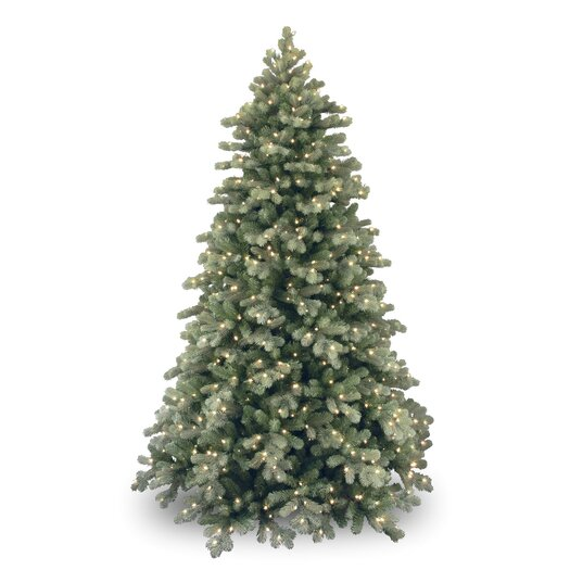 National Tree Co. 7.5' Colorado Spruce Frosted Artificial Christmas Tree with 750 Clear Lights with Stand