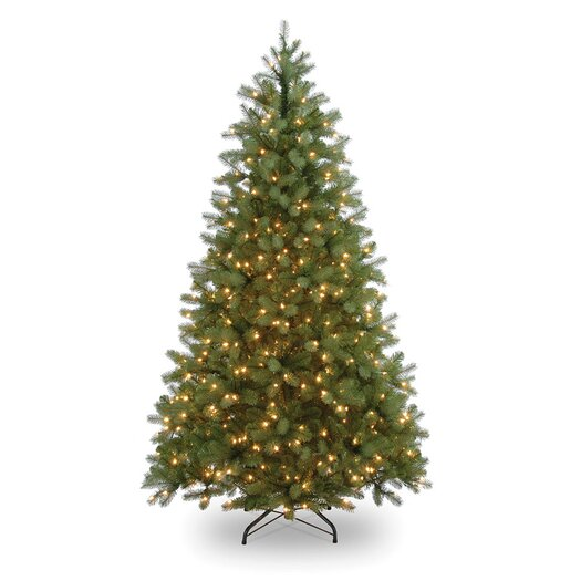 National Tree Co. Pre-lit 7' Spruce Artificial Christmas Tree with 600 Clear Lights and Stand