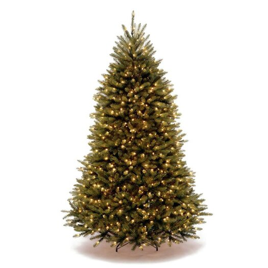 National Tree Co. 7.5' Dunhill Fir Green Artificial Christmas Tree with 750 Clear Lights