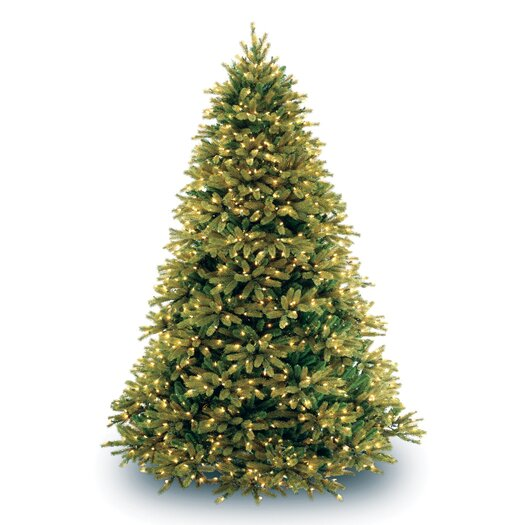 National Tree Co. 7.5' Jersey Fraser Fir Green Artificial Christmas Tree with 1250 Clear Lights with Stand