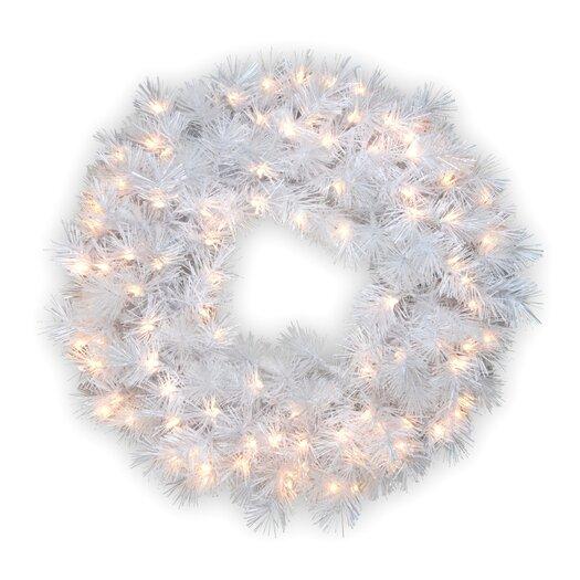National Tree Co. Pre-Lit Wispy Willow Grande Wreath