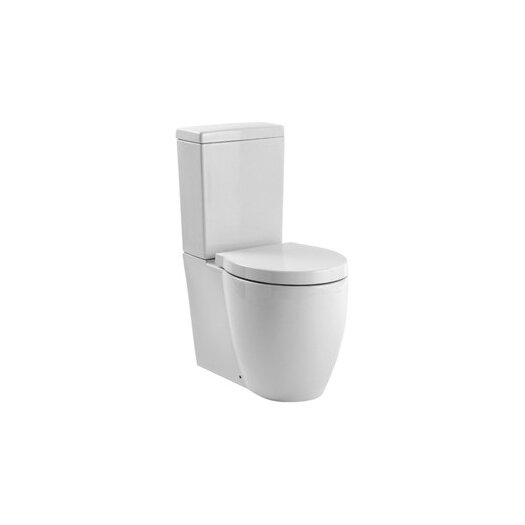 Panorama Contemporary Ceramic Floor Round 2 Piece Toilet Product Photo