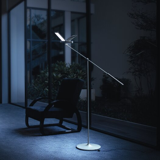 "QisDesign Seagull 64.8"" Task Floor Lamp"
