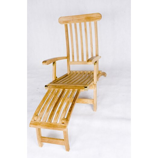 Les Jardins Teak Steamer Lounge Chair