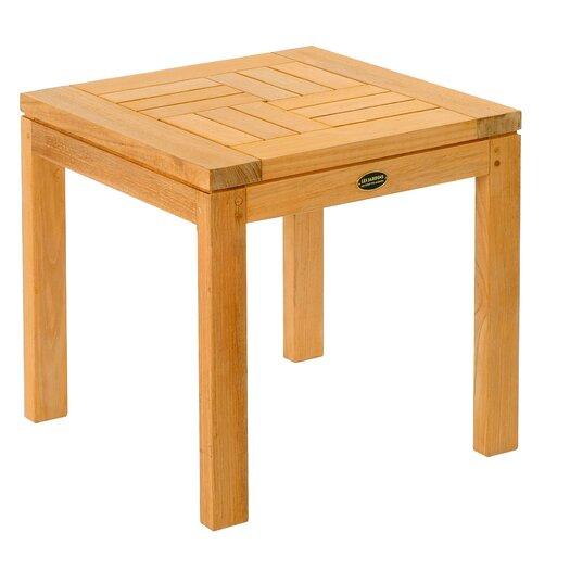 Les Jardins Teak Criss - Cross Side Table