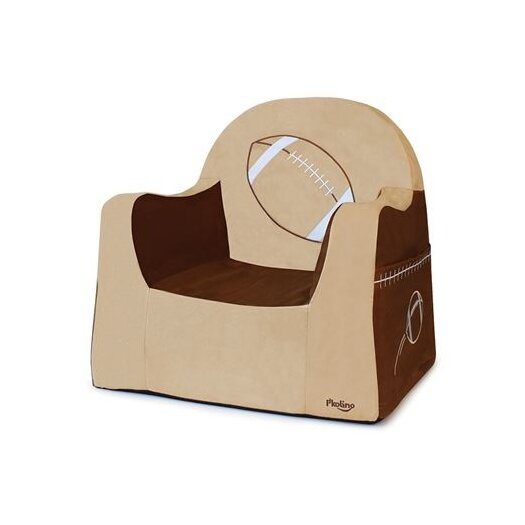 P'kolino Playful Embroidery Football Kids Foam Chair with Storage Compartment
