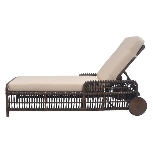 David Francis Furniture Tahiti Chaise Lounge with Cushions