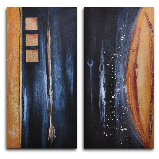 My Art Outlet Donkey Tail Against Earth 2 Piece Painting Print on Wrapped Canvas Set