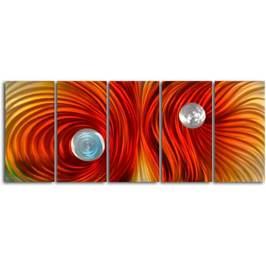 My Art Outlet Eyes on Satin Twister 5 Piece Graphic Art Plaque Set