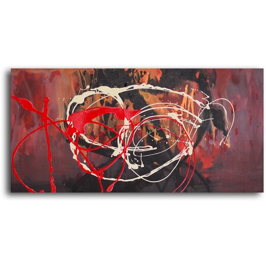 My Art Outlet Bonfire Original Painting on Wrapped Canvas