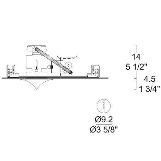 Leucos Glass Drop Low Voltage Standard Recessed Kit