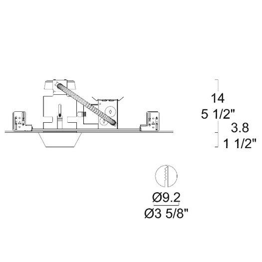 Leucos Glass Igea 2 Low Voltage LED Recessed Kit