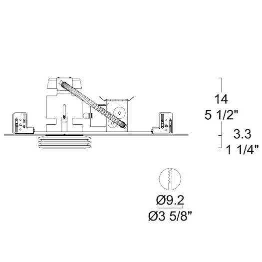 Leucos Disk Low Voltage Standard Recessed Kit