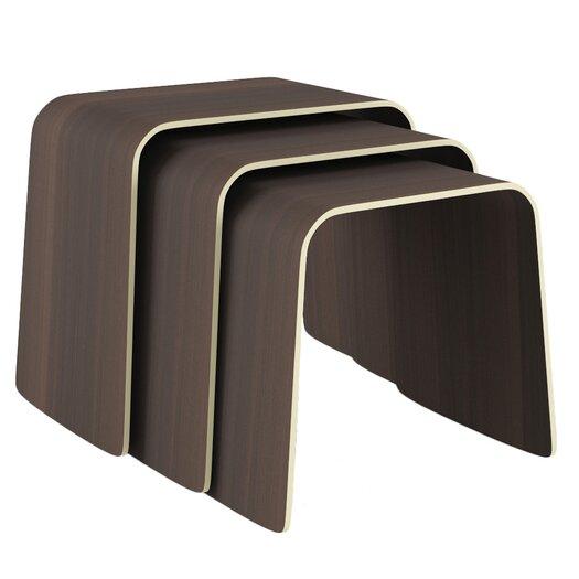 Orange22 Minimal Bend 3 Piece Nesting Table Set