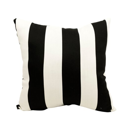 Majestic Home Goods Striped Indoor/Outdoor Throw Pillow