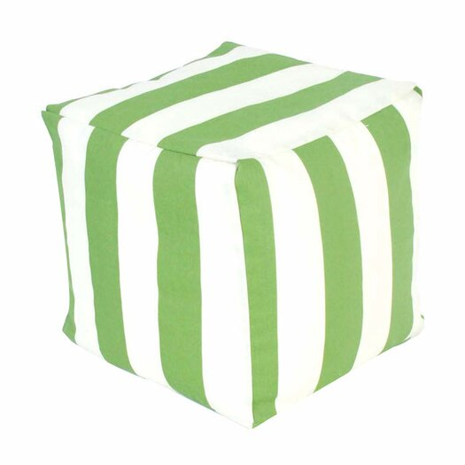 Majestic Home Goods Striped Pouf Ottoman