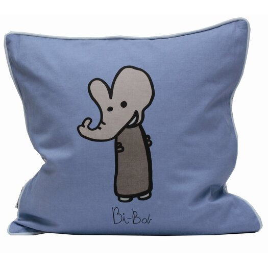 Meo and Friends Friends on Your Pillow Friends on Your Bi Bob Cotton Throw Pillow