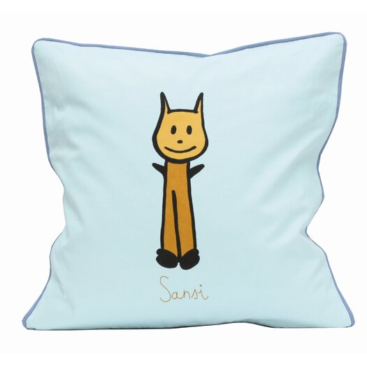 Meo and Friends Friends on Your Pillow Friends on Your Sansi Cotton Throw Pillow